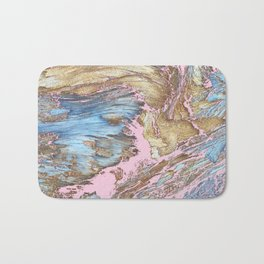 Woody Pink Bath Mat