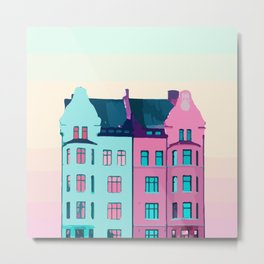 """MALMO SWEDEN """"magical house"""" Metal Print"""