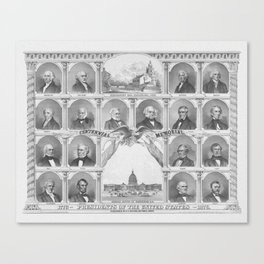 Presidents Of The United States 1776 - 1876 Canvas Print