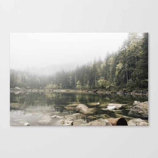 Pale lake - landscape photography Canvas Print
