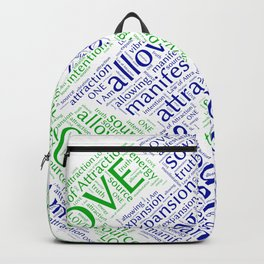 Law of Attraction Word Art Backpack