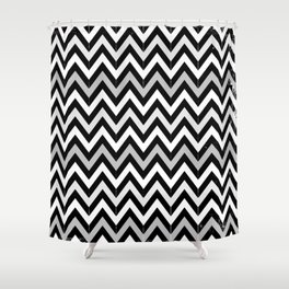 Chevron (Black and White) Shower Curtain