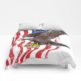USA Flag and Bald Eagle Comforters