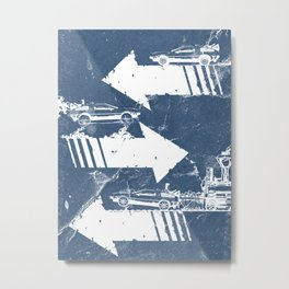 Back to the Future Minimalist Poster Metal Print