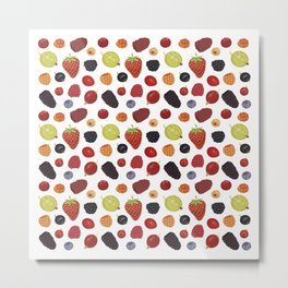 Culinary Berries Metal Print