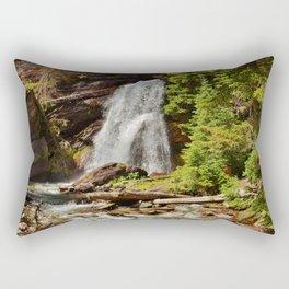 Serene Waterfall Rectangular Pillow