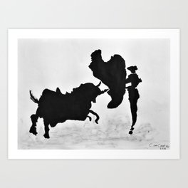 Bulls and bullfighters of Picasso I Art Print