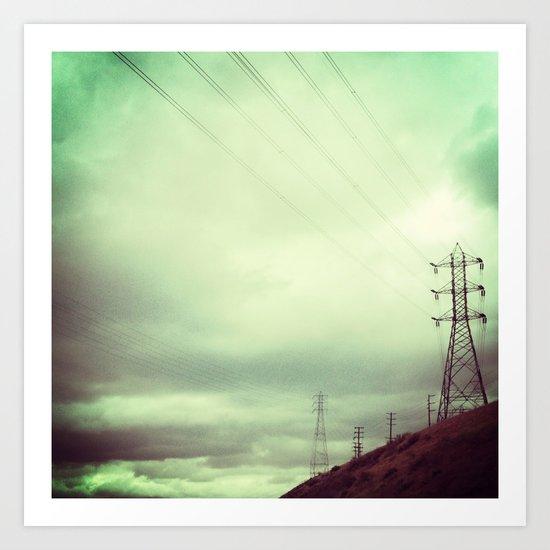 ELECTRICAL SKY Art Print