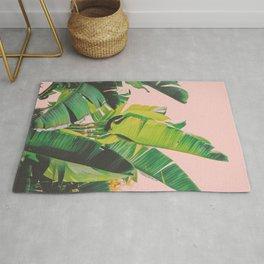 Banana Leaves III (Pink) Rug