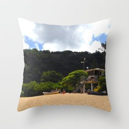 Waimea Bay Beach, Hawaii Throw Pillow