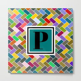 P Monogram Metal Print