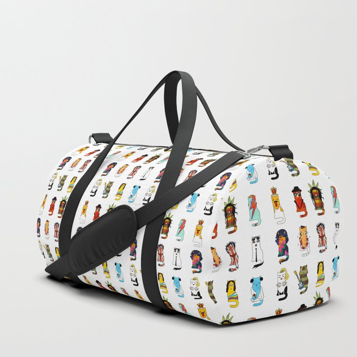 Famous Music Cats – Most Popular Musicians of the World Duffle Bag