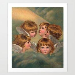 Little Angels - Kleine Engelchen Art Print