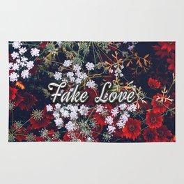 Fake Love Red Floral Rug