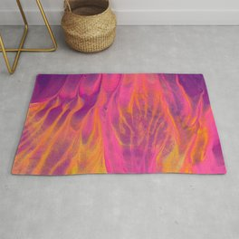 Candy Coated Gold Fire Abstract Painting Rug