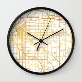 DENVER COLORADO CITY STREET MAP ART Wall Clock