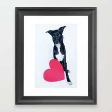 Little Valentine Framed Art Print