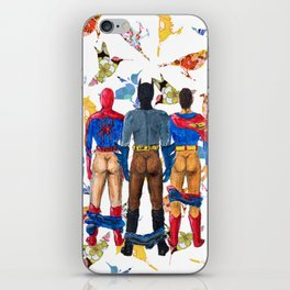 Super Hero BUTTs | It's a bird, it's a plane, it's... a booty iPhone Skin