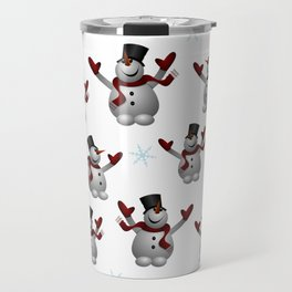 Snowmen and Snowflakes Travel Mug