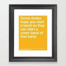 Cover Band Framed Art Print