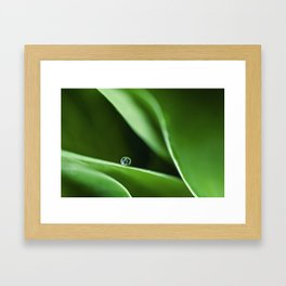 green waves and a drop Framed Art Print