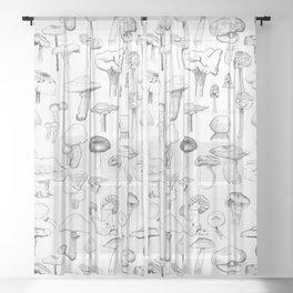 The mushroom gang Sheer Curtain