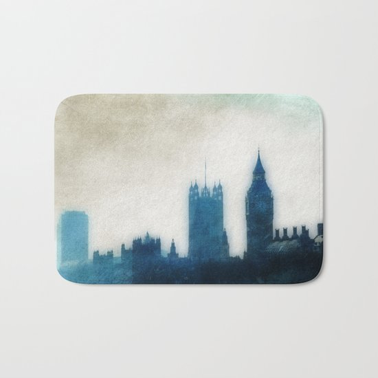 The Many Steepled London Sky Bath Mat