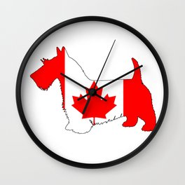 "Scottish Terrier ""Canada"" Wall Clock"