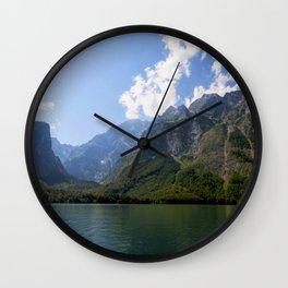 Bavaria - Alpes - Mountains Koenigssee Lake Wall Clock