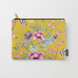 Yellow Chinese Floral Carry-All Pouch