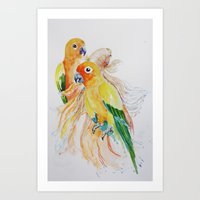 an unlikely grouping Art Print