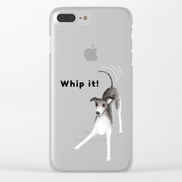 Whip it! (Light Blue) Clear iPhone Case