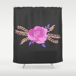 Hard pink Rose Shower Curtain