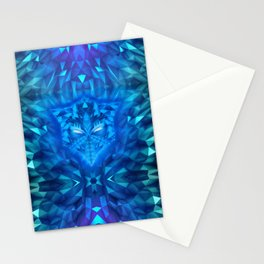 Deep Ice Blue - Sub Zero Transformers Wolf Mask Portait  Stationery Cards