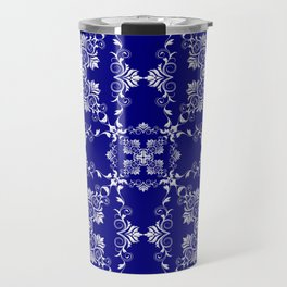 Baroque style blue texture/background Travel Mug