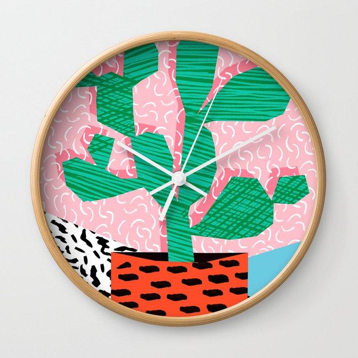 Cool Hang Cactus Minimal Retro Memphis Design 1980s 80s