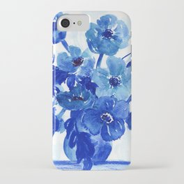 blue stillife iPhone Case