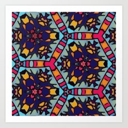 Spanish Octagons Art Print