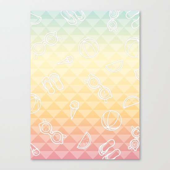 Summer is a state of mind Canvas Print