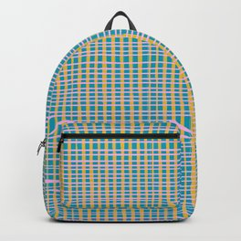 Plaid Lines in Blue Backpack