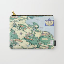 WELLESLEY College map MASSACHUSETTS dorm decor graduate Carry-All Pouch