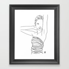 Line Art Lady Framed Art Print