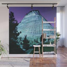 Fantasy Blue Ridge Mountain With Purple Sky Wall Mural