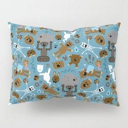 Crazy MonkeyTeddyBears Pattern Pillow Sham