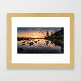 Ripples to Waves Framed Art Print