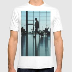 Airport silhouette MEDIUM Mens Fitted Tee White