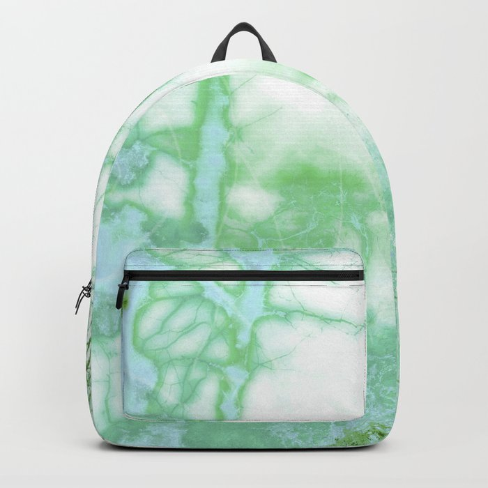 Magical forest in frosty greens Backpack