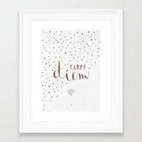 carpe diem Framed Art Prints featuring Carpe Diem by Earthlightened