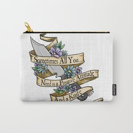 Positive Attitude Carry-All Pouch