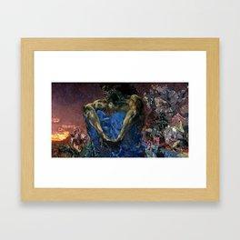 Vrubel Demon Framed Art Print